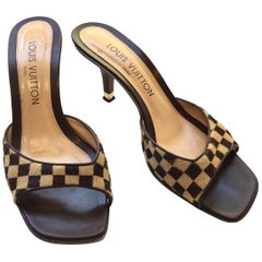 Louis Vuitton Pony Hair Damier Heels, 37
