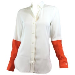 Celine Silk Color Block Blouse