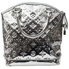 2007 Louis Vuitton Silver Monogram Miroir Lockit  Limited Edition Bag