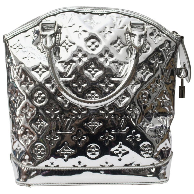 c0b962404e7b 2007 Louis Vuitton Silver Monogram Miroir Lockit Limited Edition Bag For  Sale