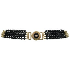 Vintage Gianni Versace 1994 Medusa Beaded Belt