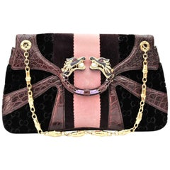 Gucci Limited Edition Violet GG Tom Ford Dragon Shoulder Bag