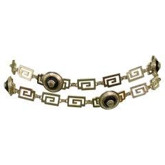 Vintage Gianni Versace 1990's Medusa Greco Belt