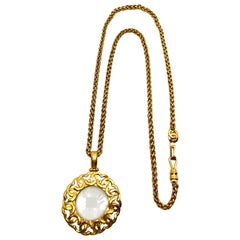 Chanel Magnifying Glass Pendant Necklace Autumn 1995 Collection
