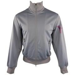 Y-3 by YOHJI YAMAMOTO Grey Solid Polyester Jacket