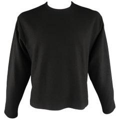 YOHJI YAMAMOTO Size M Black Solid Wool Pullover Sweater