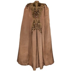 French Evening Cape with Trimmings Emile Pingat style 1890 - 1905