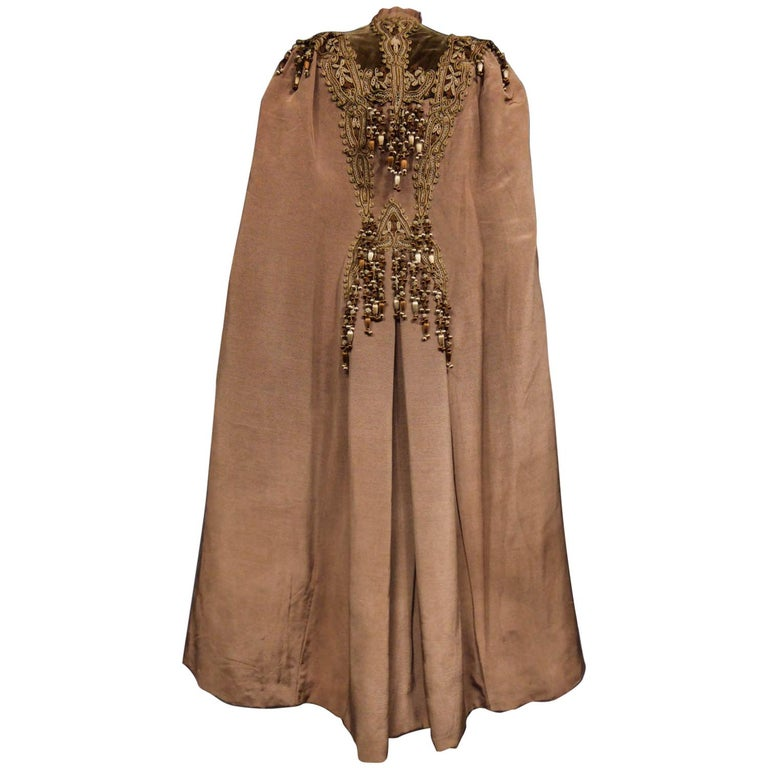 French Evening Cape with Trimmings Emile Pingat style 1890 - 1905 For Sale