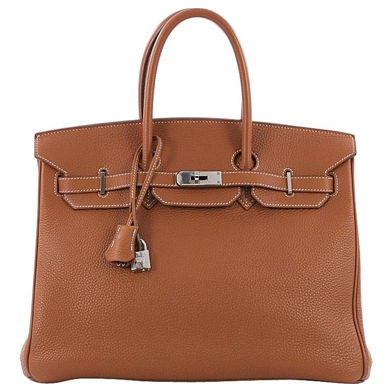35778f4f049 Hermes Birkin Handbag Gold Togo with Palladium Hardware 35 at 1stdibs