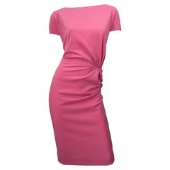 New Dsquared Size 10 / 46 Flattering Bubblegum Pink Short Sleeve Dress