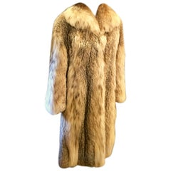 Sumptuous Siberian Lynx Fur Coat by Revillion Paris New York Full Length