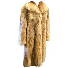 Sumptuous Siberian Lynx Fur Coat by Revillion Paris New York Full Length