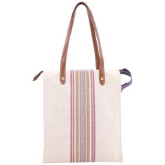 Hermes Mira Ganges Tote Rainbow Toile Tall