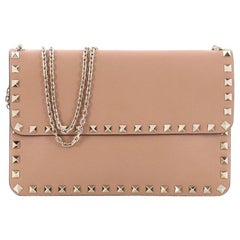 Valentino Rockstud Chain Flap Shoulder Bag Leather Small
