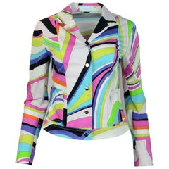 Emilio Pucci Multi-Color Cotton Long Sleeve Blazer/Jacket Sz 36