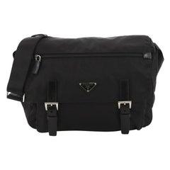 Prada Buckle Messenger Bag Tessuto Medium