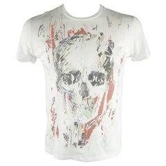 ALEXANDER MCQUEEN Size M White Skull Cotton T-shirt