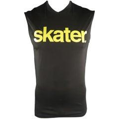 DSQUARED2 Size S Black Graphic Cotton Sleeveless T-shirt