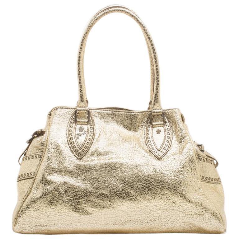 Fendi Gold Leather Du Jour Satchel For Sale. Handbags ... 1c5b4ea334