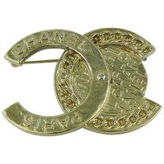 Chanel Medallion Coin CC Logo Brooch 2016