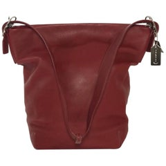Coach Vintage Smooth Leather Extra Large Legacy Shoulder Tote Hand Bag in Deep R