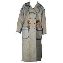Grey Vintage Courreges Wool Coat