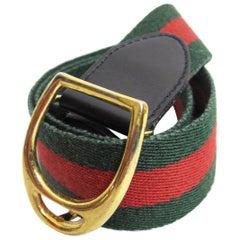 Gucci Striped Waist Belt, 1980s