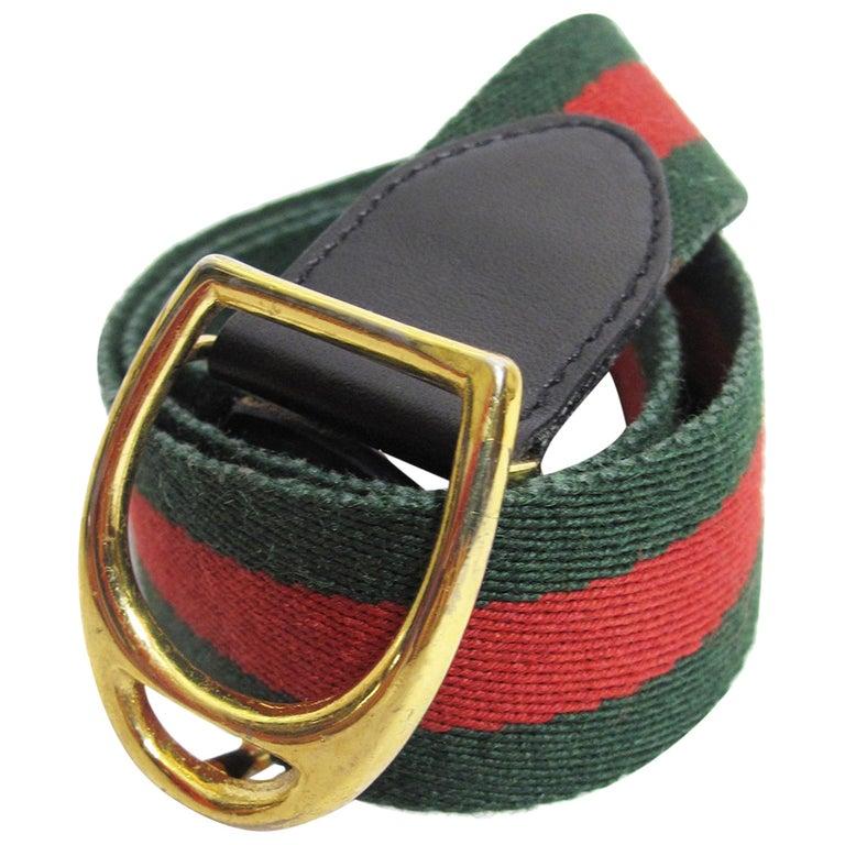 608c13152a3 Gucci Striped Waist Belt