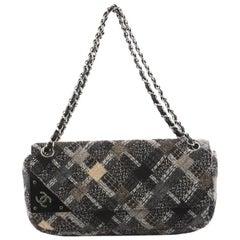 Chanel CC Tab Flap Shoulder Bag Tweed East West