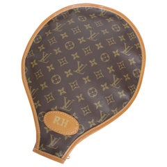 Vintage Louis Vuitton Monogram Canvas Tennis Racket Cover French Company Rare