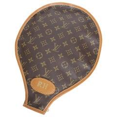 Vintage Louis Vuitton Monogramm Leinen Tennis Racket Hülle Französisches Unternehmen selten