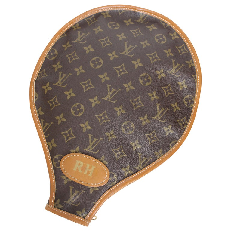 1ae8fe76207 Vintage Louis Vuitton Monogram Canvas Tennis Racket Cover French Company  Rare For Sale