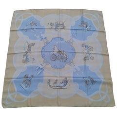 Hermès Silk Scarf Vintage Les Jouets Mobiles Moving Toys Yellow 90 cm RARE