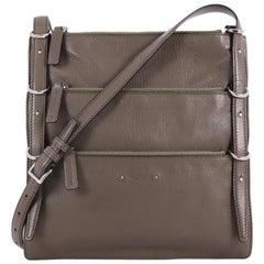 Valentino Triple Zip Shoulder Bag Leather Medium
