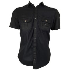 Men's Gucci Black Short Sleeve Button Downs