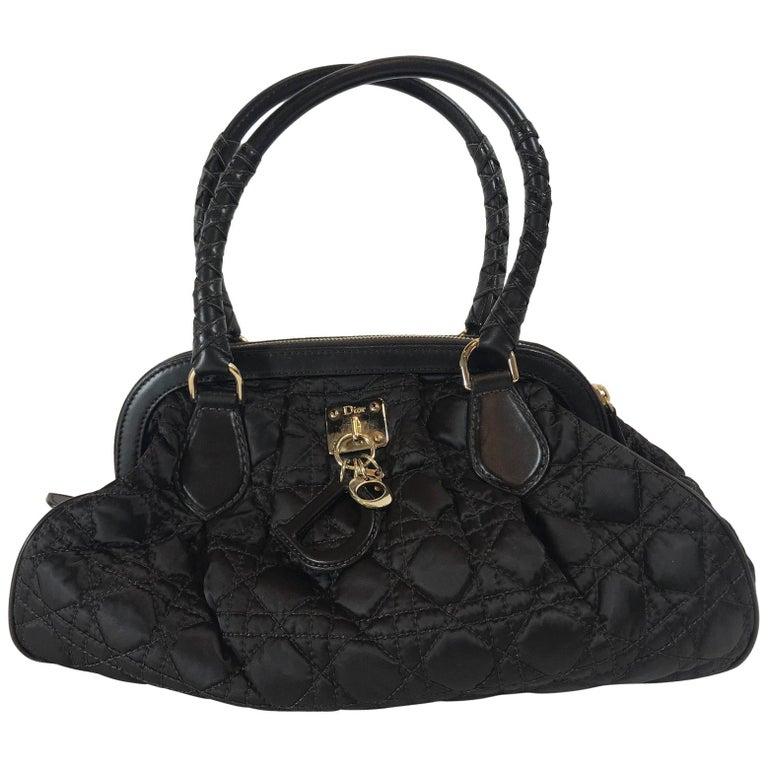 Christian Dior Satin Cannage Doctor Bag