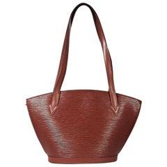 Tan Louis Vuitton Epi Leather Shoulder Bag