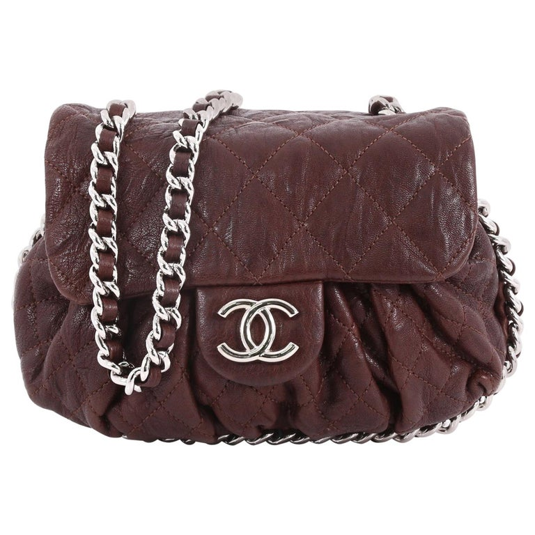 Chanel Chain Around Flap Bag Quilted Leather Small At 1stdibs