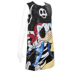 JC De Castelbajac Mini Dress Donald Duck Pirate Breton Stripe New Tags Sz 42