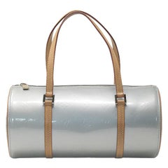 Louis Vuitton Bedford Vernis Silver Papillon Handbag in dust bag