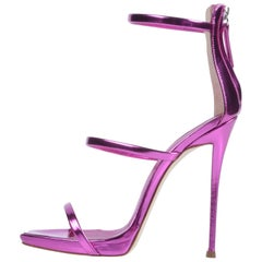 Giuseppe Zanotti NEW Pink Leather Evening Strappy Ankle Sandals Heels in Box