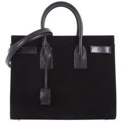 Saint Laurent Sac de Jour NM Handbag Suede Small