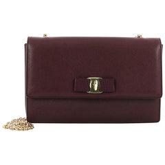 Salvatore Ferragamo Ginny Crossbody Bag Saffiano Leather Medium