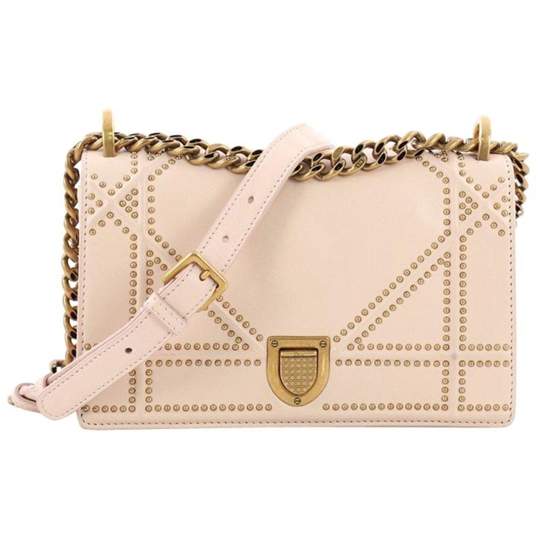 eb498c3e71 Christian Dior Diorama Flap Bag Studded Leather Small at 1stdibs