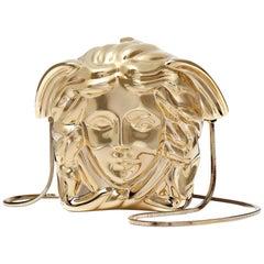 New VERSACE Medusa gold metal shoulder bag clutch