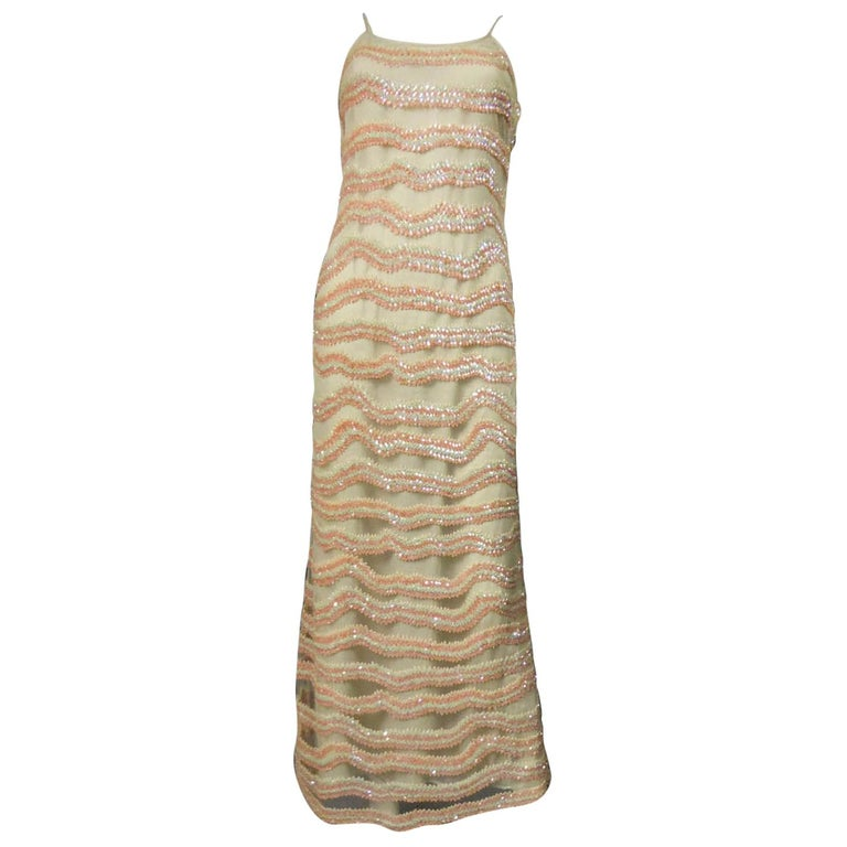 Giorgio Armani Couture fashion show dress worn by Claudia Cardinale - Circa 2000 For Sale