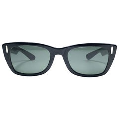 Vintage Ray Ban Bob Dylan 1960's Mid Century Black G15 Lenses B&L USA Sunglasses