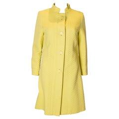 Chic Vintage Yellow Coat