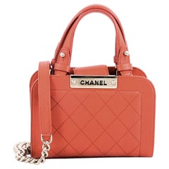 Chanel Label Click Shopping Tote Quilted Calfskin Mini