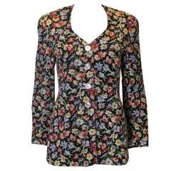 Vintage Caroline Charles Silk Jacket